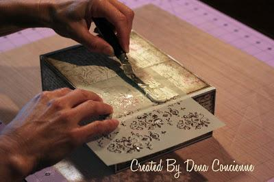 Altered cigar box and quick tutorial paperblog for Cardboard cigar box crafts