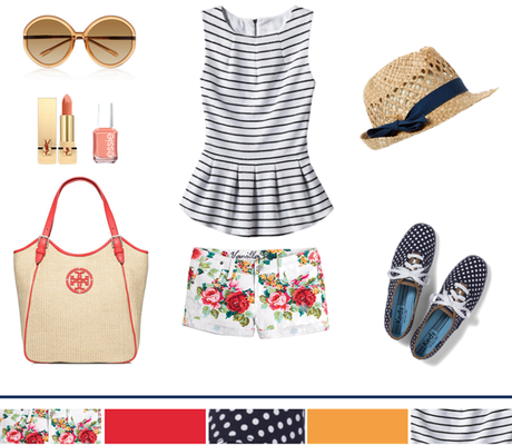 Floral + Stripes + Polka-Dots...