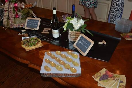 couples bridal shower,  chalkboard signs, wine themed bridal shower