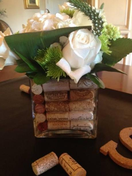 bridal shower,  wine cork display, wine themed bridal shower,