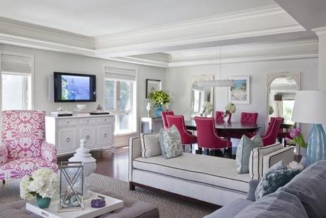 contemporary living room Make A Decorating Statement With Fabric HomeSpirations