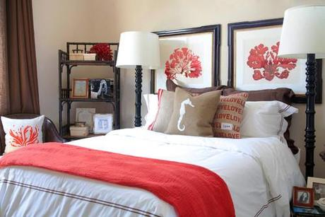contemporary bedroom Make A Decorating Statement With Fabric HomeSpirations