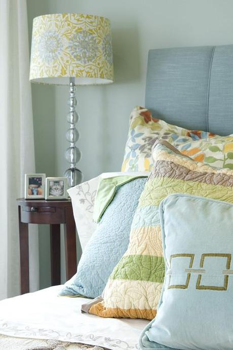 eclectic bedroom Make A Decorating Statement With Fabric HomeSpirations