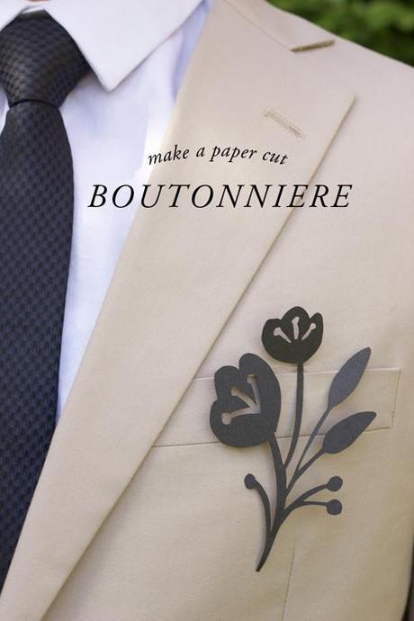 Make a paper cut boutonniere