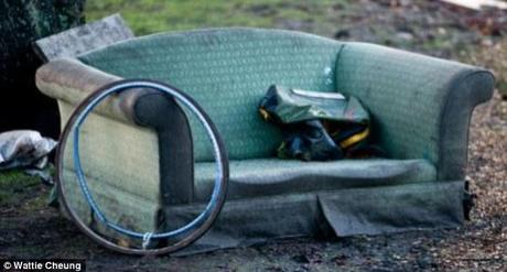 Police said the 'sex sofa' wasn't even discreetly hidden away - it was on a street curb (File picture)