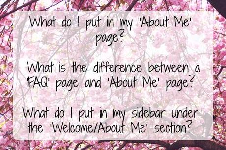 Managing your 'About Me' and 'FAQ' pages (BSB #1)