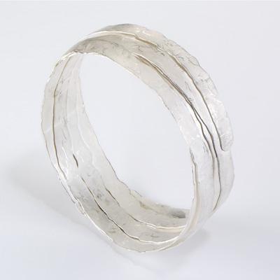 Ruth tomlinson sketch bracelet, silver bangle, silver jewelry Boca Raton