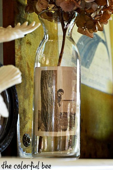 antique photo in a bottle