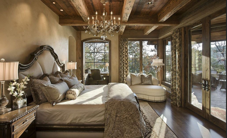 Rustic traditional bedroom