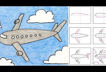 how to draw a paper airplane