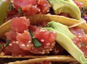 Kiki's Kitchen: Poke Crispy Tacos Spicy Slaw