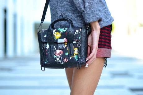 3.1 phillip lim mini pashli floral satchel bag