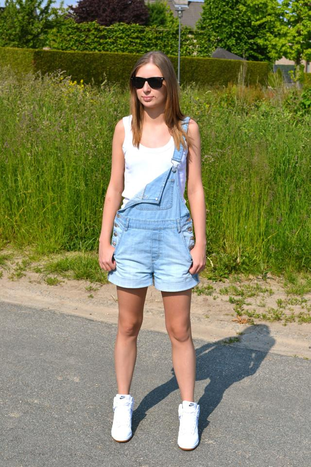 Outfit // Shorty Dungarees - Paperblog