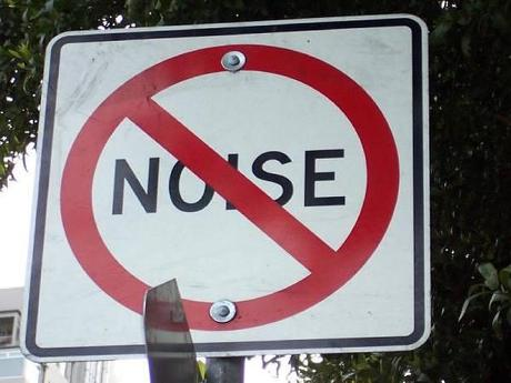 Noise pollution signboard