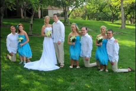 (The bridesmaids are not all little people.)