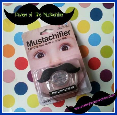 Cool Baby Gift, the Mustachifier Mustache Pacifier for Babies