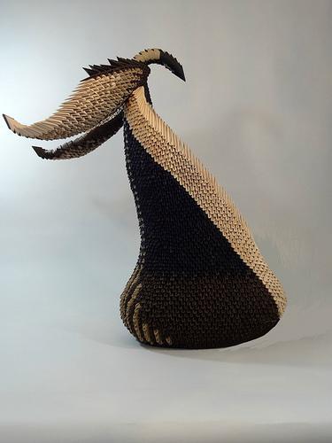 3D modular origami sculpture