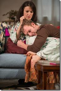 Kate Arrington and Cliff Chamberlain in in Steppenwolf Theatre Company's production of Belleville by Amy Herzog, directed by Anne Kauffman.