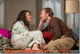 Kate Arrington and Cliff Chamberlain in Steppenwolf Theatre Company's production of Belleville by Amy Herzog, directed by Anne Kauffman. (photo credit: Michael Brosilow)