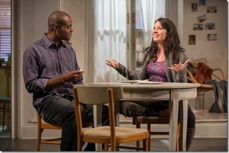Kate Arrington and Chris Boykin in Steppenwolf Theatre Company's production of Belleville by Amy Herzog, directed by Anne Kauffman. (photo credit: Michael Brosilow)
