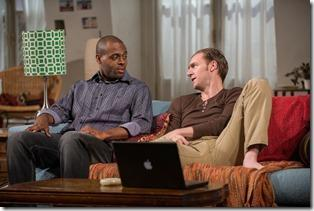 Chris Boykin and Cliff Chamberlain in Steppenwolf Theatre Company's production of Belleville by Amy Herzog, directed by Anne Kauffman. (photo credit: Michael Brosilow)