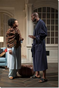Chris Boykin and Alana Arenas in Steppenwolf Theatre Company's production of Belleville by Amy Herzog, directed by Anne Kauffman. (photo credit: Michael Brosilow)
