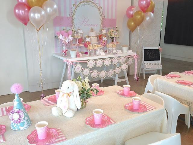 A Vintage Bunny Rabbit Themed 1st Birthday By Centre Of