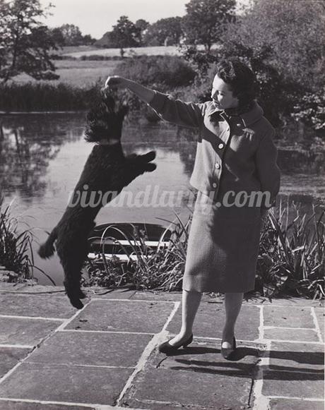 Vivien Leigh and her dog Sebastian