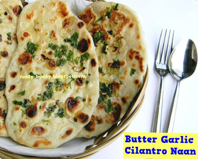 Butter Garlic Cilantro Naan / Naan Recipe Without Yeast ...
