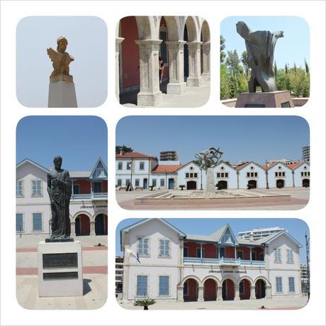 larnaca kition city hall zeno of citium fountain culture museum monument
