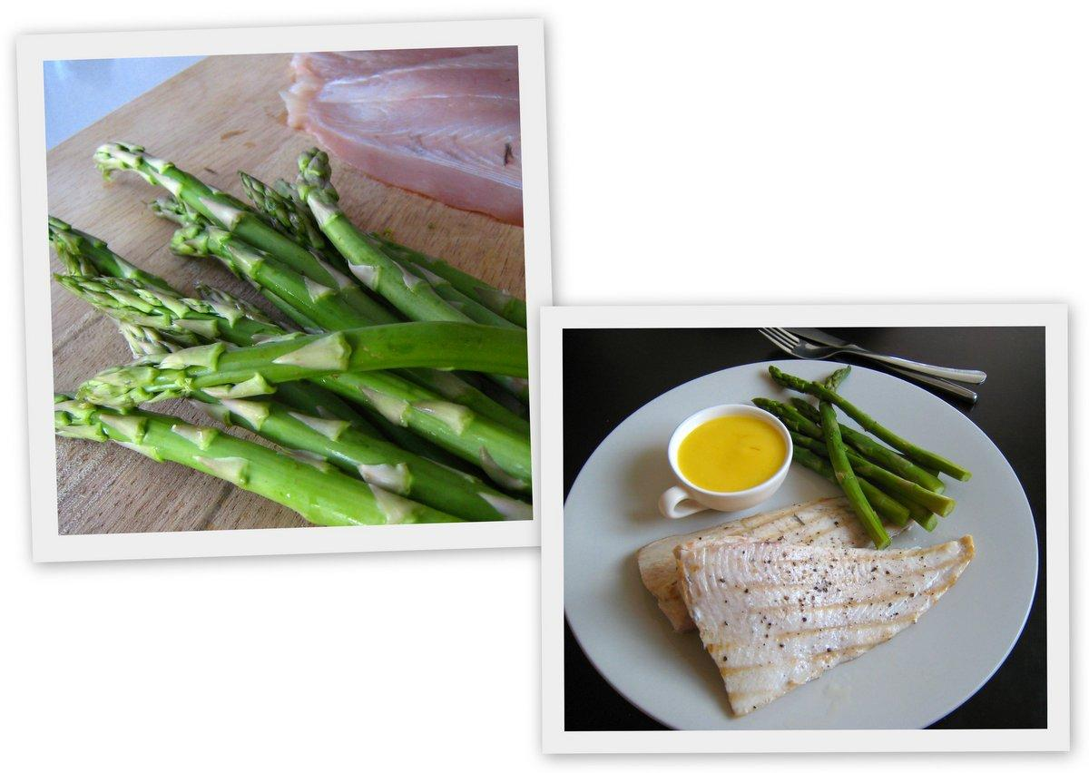 Angelfish with Steamed Asparagus & Lime Beurre Blanc