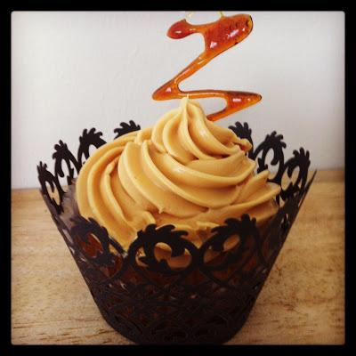 And we're off! - Salted Caramel Cupcakes