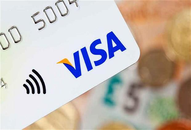 Contactless Visa Debit Card Makes Payment For Your