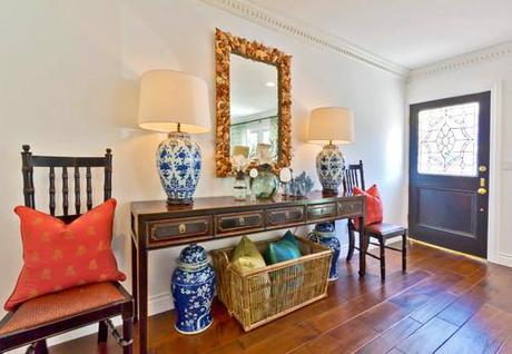 eclectic entry Coastal Design: Perfect Summer Style HomeSpirations