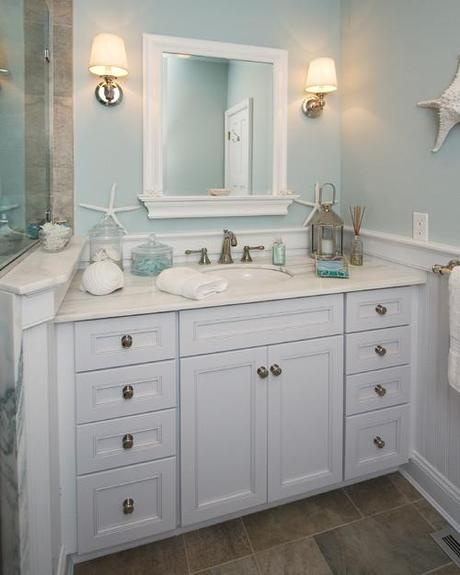 traditional bathroom Coastal Design: Perfect Summer Style HomeSpirations