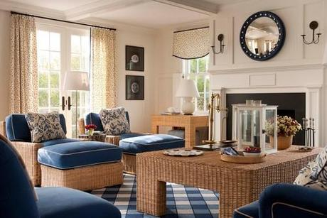 traditional living room Coastal Design: Perfect Summer Style HomeSpirations