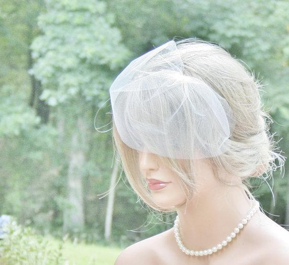 Fancy New Wedding Hair Accessories - Blusher Veil & Pearl Bridal Hair Flower