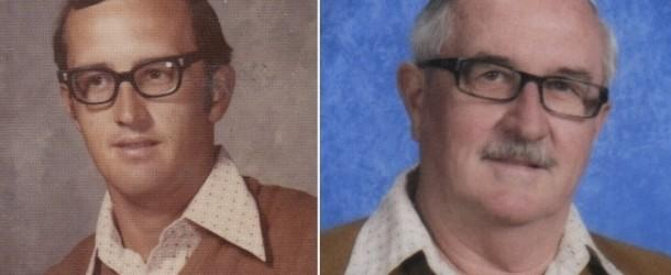 Teacher Wears The Same Outfit In His Yearbook Photo Every Year For 40 Years