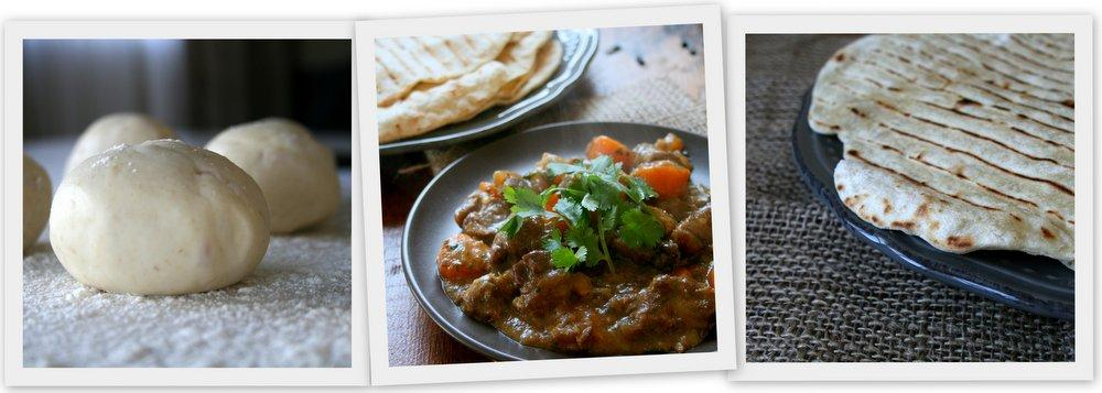 Moroccan Beef  with Spiced Flatbreads