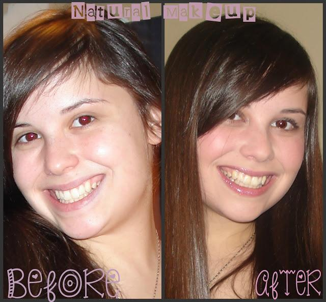 Natural Makeup look, one of my before&afters; starting out as a Makeup artist.