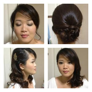 Here's an example of the photos we take of our client during the trial. Makeup and different hairstyles.