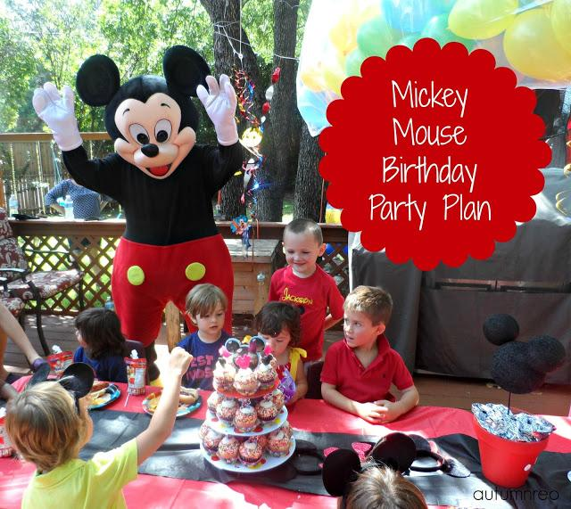 HOTDOG Mega Mickey Mouse Birthday Party Plan Paperblog