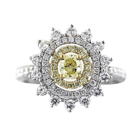 Facney yellow diamond engagement ring