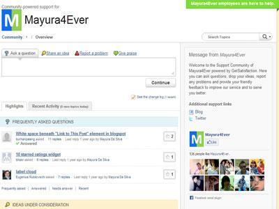 Blogger Mayura Support Center
