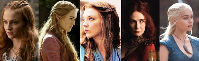 HAIR STYLE OF THE LADIES OF GAME OF THRONES