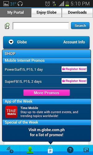 Globe Mobile Toolbar: Enhancing Mobile Browsing Further