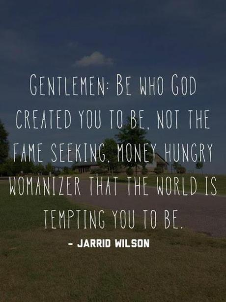 Men, be who God wants you to be