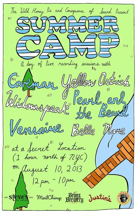 summercampposter THE WILD HONEY PIE AND CONSEQUENCE OF SOUND PRESENT SUMMER CAMP