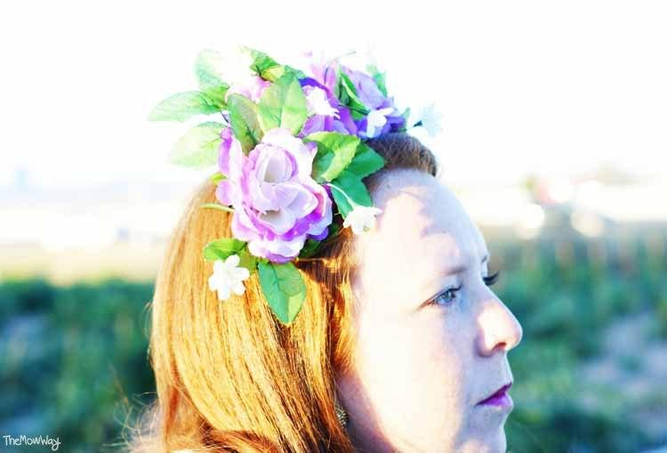 DIY floral crown outfit  - TheMowWay.com