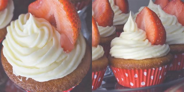 Summer Strawberry Cupcakes